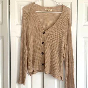 Beige Button Down Sweater
